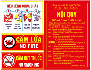 quy dinh ve phong chay chua chay trong cong ty
